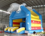 INFLATABLE BOUNCER Model Dolphin Double Slide Front
