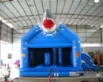 INFLATABLE BOUNCER Model Shark with Slide