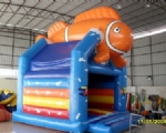 INFLATABLE BOUNCER Model Orange Clownfish with Obstacle