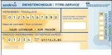 Dienstencheque stempel