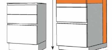Des armoires basses plus hautes et/ou plus profondes