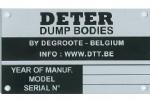 Plaat voor identificatie (zeelfdruk op alu)